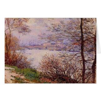 Tarjeta del impresionismo de la bella arte de río
