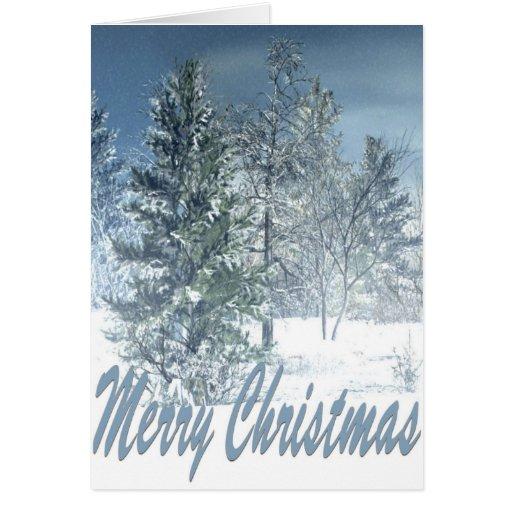 Tarjeta del invierno de las Felices Navidad
