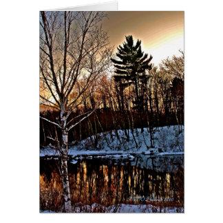 Tarjeta del invierno de Manitowish