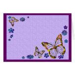 Tarjeta del jardín de la mariposa (espacio en blan