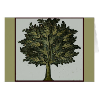 Tarjeta del jardín del árbol