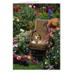 Tarjeta del jardín del beagle