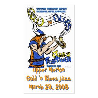 Tarjeta del jazz 2008 de los azules de n del oro ' tarjetas de visita