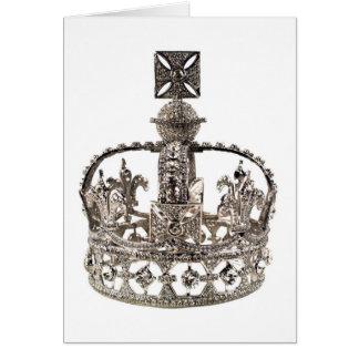 Tarjeta del jubileo de diamante de la reina Elizab