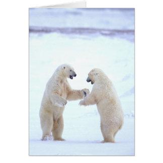 Tarjeta del juego del oso polar