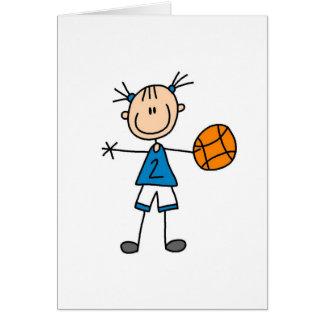 Tarjeta del jugador de básquet del chica