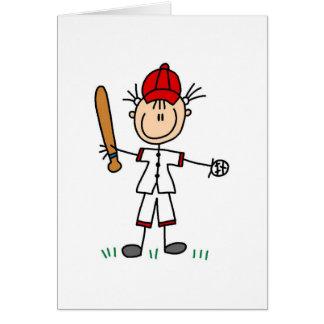 Tarjeta del jugador de béisbol del chica