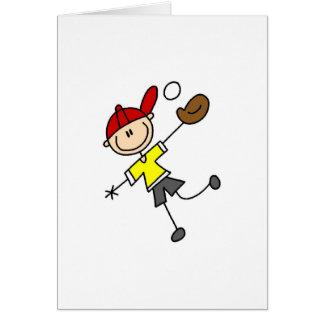 Tarjeta del jugador de béisbol del muchacho