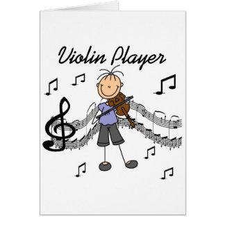 Tarjeta del jugador del violín
