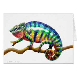 Tarjeta del lagarto del camaleón de la pantera