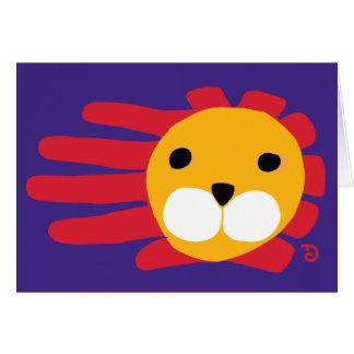 Tarjeta del león