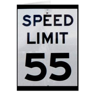 Tarjeta del límite de velocidad 55