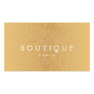 Tarjeta del lino del oro de los accesorios de la tarjetas de visita