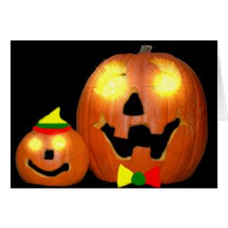 Tarjeta del Lithuanian de Sveikiname su Halloween