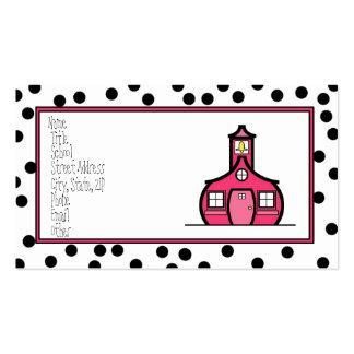 Tarjeta del logotipo del punto tarjetas de visita