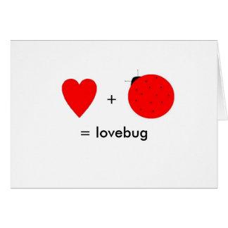 tarjeta del lovebug para el el día de San Valentín