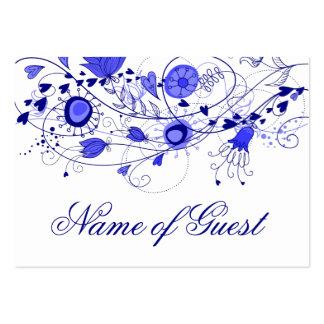 Tarjeta del lugar - azul marino caprichoso que tarjetas de visita grandes