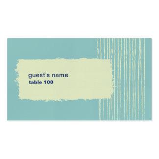 Tarjeta del lugar de la aguamarina tarjetas de visita