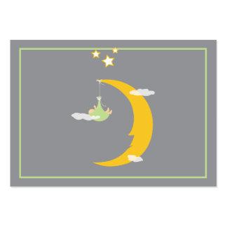 Tarjeta del lugar de la luna y de la tabla de las tarjetas de visita grandes