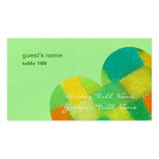 Tarjeta del lugar de la menta de la primavera tarjetas de visita