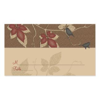Tarjeta del lugar de la ocasión especial de las vi tarjeta de visita