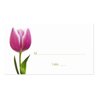 Tarjeta del lugar de la ocasión especial del tulip plantilla de tarjeta de negocio