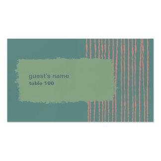 Tarjeta del lugar de la pátina tarjetas de visita
