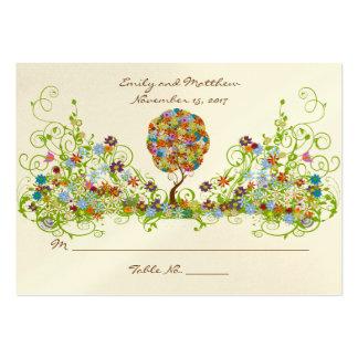 Tarjeta del lugar de la tabla de FlowerTree de la Tarjetas De Visita Grandes