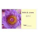 Tarjeta del lugar de la tabla de la flor de Lotus Tarjeta De Visita