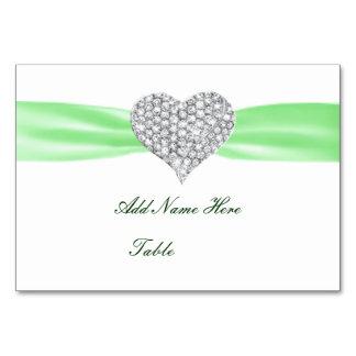 Tarjeta del lugar de la tabla del boda del verde
