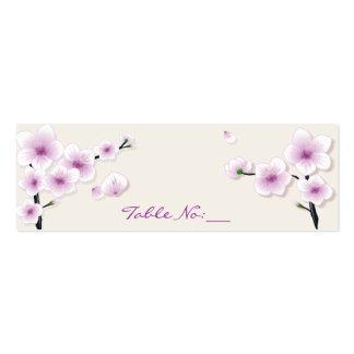 Tarjeta del lugar de la tabla del flor de la prima