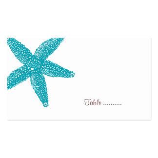 Tarjeta del lugar de las estrellas de mar tarjetas de visita