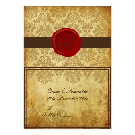 Tarjeta del lugar de tienda del damasco del piqué  tarjeta de visita