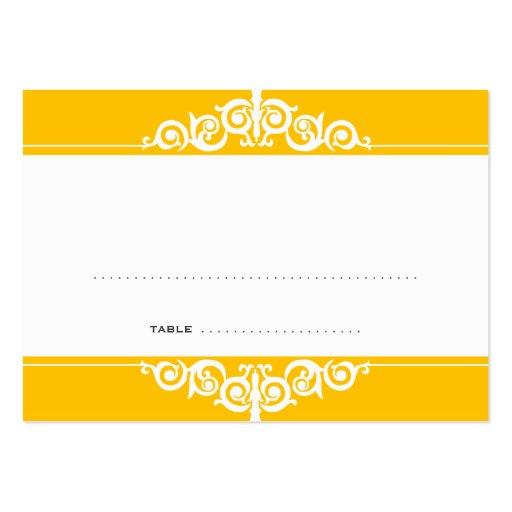 Tarjeta del lugar del acompañamiento de la huésped tarjetas de visita grandes