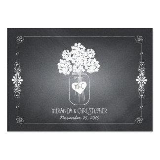 Tarjeta del lugar del asiento del boda del tarro d tarjetas de visita
