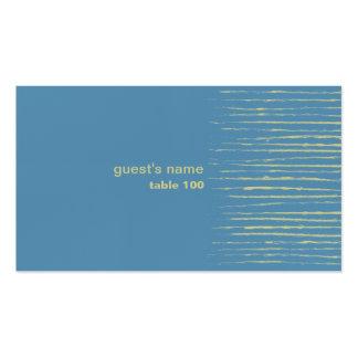 Tarjeta del lugar del azul de acero tarjetas de visita