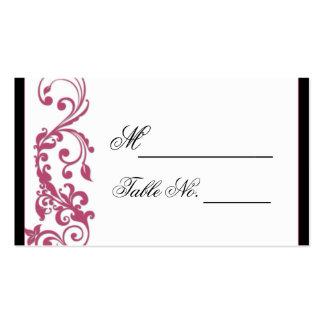 Tarjeta del lugar del boda de la esquina tarjeta personal