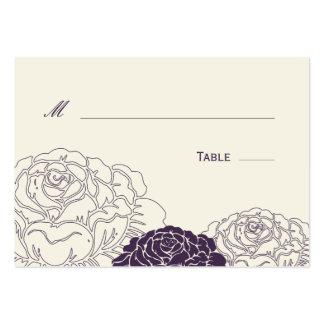 Tarjeta del lugar del boda de la rosaleda - púrpur plantillas de tarjeta de negocio