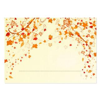 Tarjeta del lugar del boda del follaje de otoño tarjetas de visita grandes