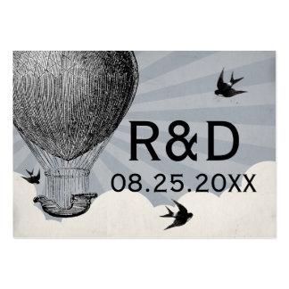 Tarjeta del lugar del boda del globo del aire cali tarjeta de visita