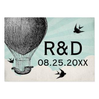 Tarjeta del lugar del boda del globo del aire cali tarjetas de visita