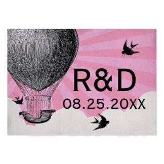 Tarjeta del lugar del boda del globo del aire cali plantillas de tarjeta de negocio