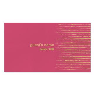 Tarjeta del lugar del cabaret tarjetas de visita
