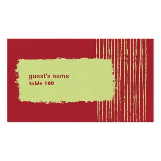 Tarjeta del lugar del chile tarjetas de visita