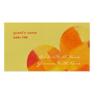 Tarjeta del lugar del confeti del verano tarjetas de visita