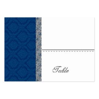 Tarjeta del lugar del damasco de los azules tarjetas de visita grandes
