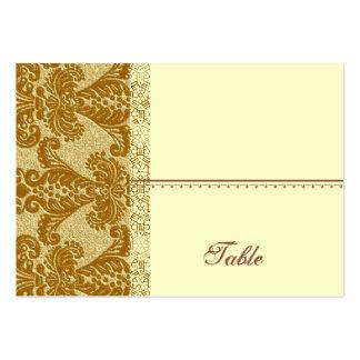 Tarjeta del lugar del damasco del oro - banquete tarjetas de visita grandes