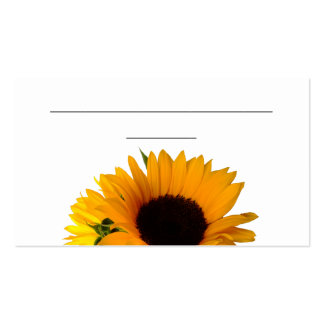 "Tarjeta del lugar del girasol (3,5"" x 2,0"", 100 tarjetas de visita"