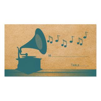 Tarjeta del lugar del gramófono del vintage del tr tarjeta de negocio