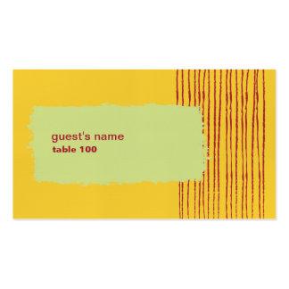 Tarjeta del lugar del limón tarjetas de visita